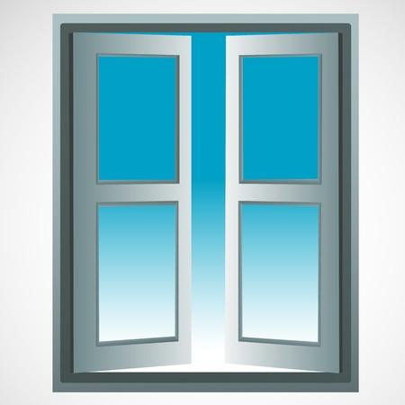 window: illustration of window icon on white background