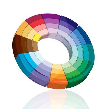 bullseye: Abbildung colorful Target Board auf wei�em Hintergrund