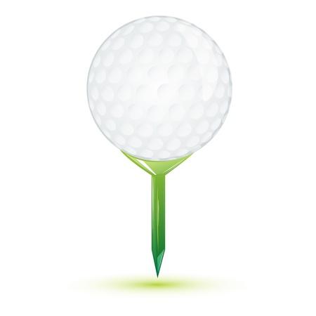 golfing: illustration of golf ball on white background