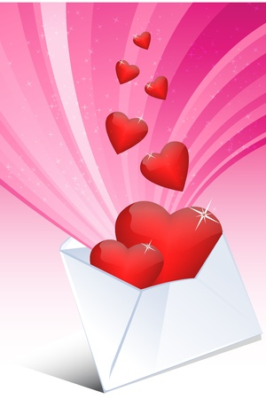 truelove: illustration of love letter with heart and invelup