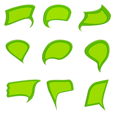 illustration of dialogue bubble on white background Vector