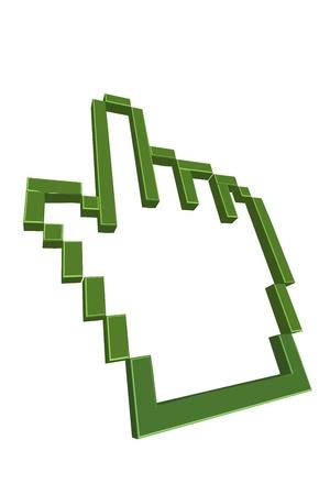 illustration of computer cursor Stock Vector - 8302984