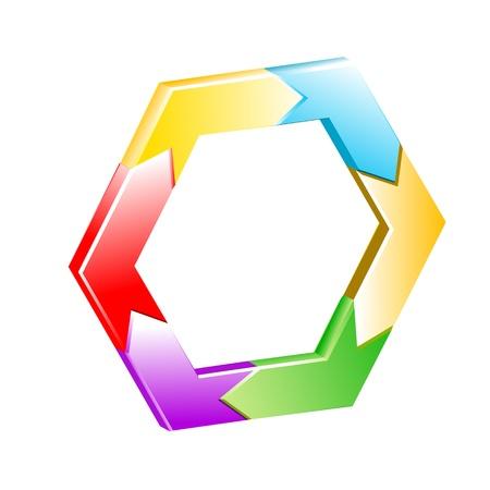 illustration of hexagon  background on white background Stock Vector - 8302550