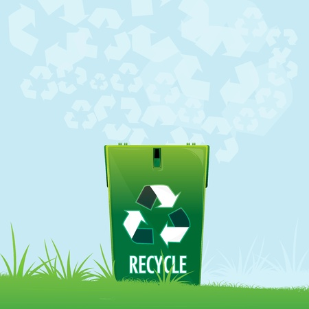 illustration of natural recycle Vector