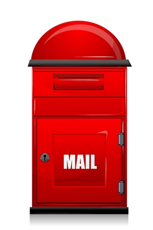 illustration of mail box on white background Stock Vector - 8302648