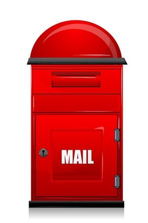 wehosting: illustration of mail box on white background Illustration