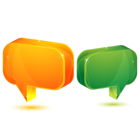illustration of dialogue bubble on white background Stock Vector - 8302891