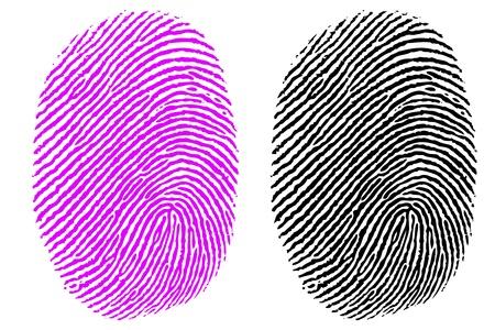 illustration of thumb impression on white background Vector