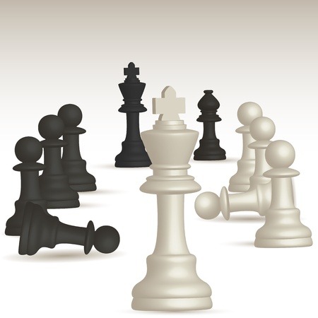 illustration of chess game Vector