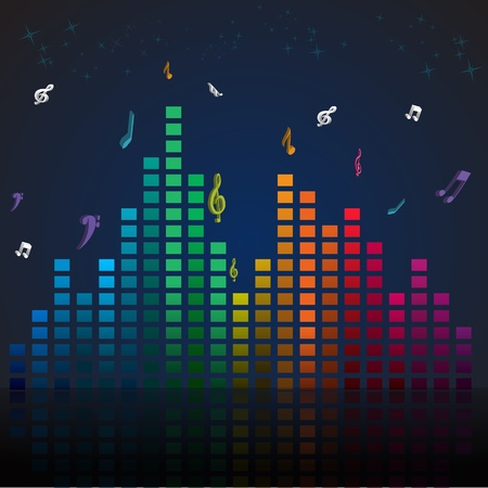 illustration of colorful music card Vector