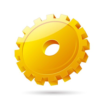 illustration of gear icon on white background Stock Vector - 8302767
