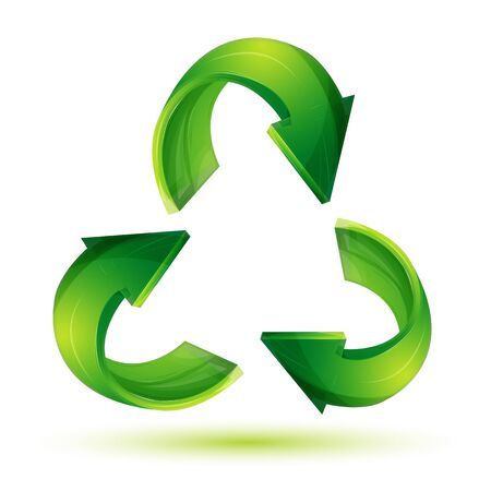 illustration of recycle icon on white background Stock Vector - 8302897