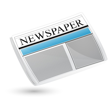 newspaper articles: illustration of newspaper sign on white background Illustration