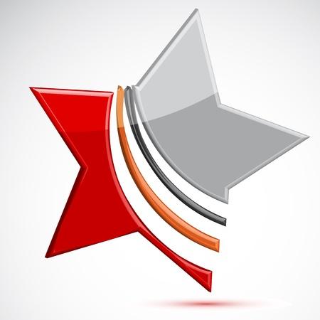 illustration of   star on white background Stock Vector - 8302717