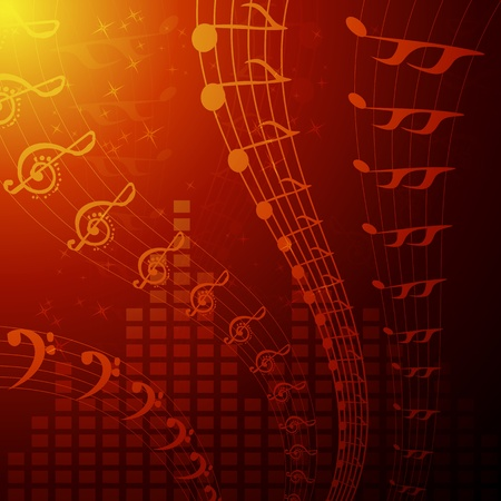 illustration of musical background Vector