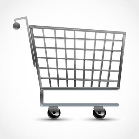 shopping buggy: illustration of shopping trolley on white background Illustration