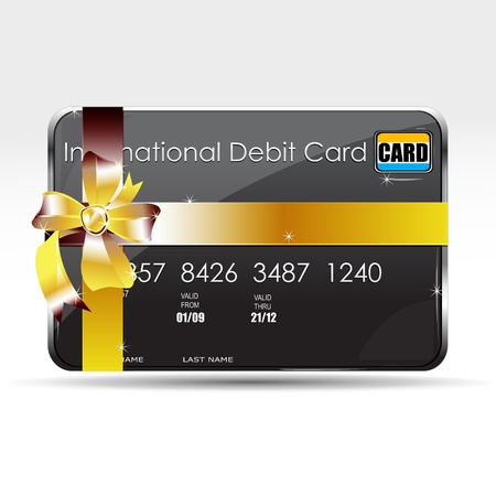 mastercard: illustration of gift card on isolated background