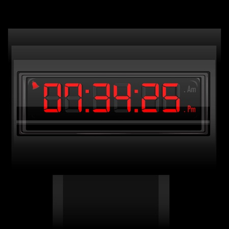 digital numbers: illustration of digital clock