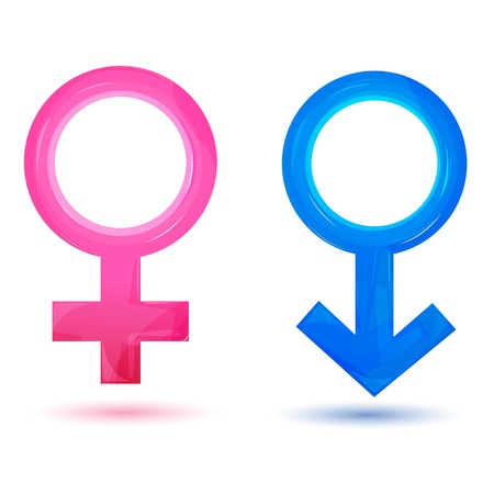 illustration of sex icons on isolated background Illustration
