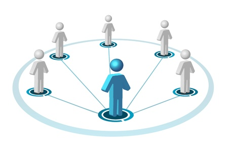 illustration of social networking on white background