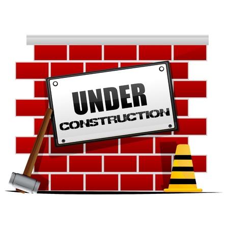illustration of under construction Stock Vector - 8302772
