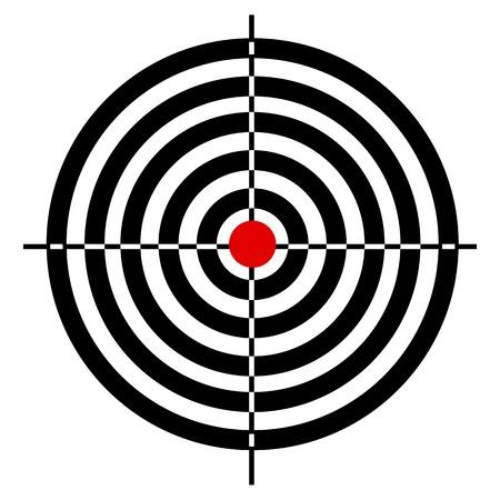bullseye: Illustration des Target-Board auf wei�em Hintergrund