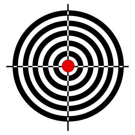 illustration of target board on white background Vector