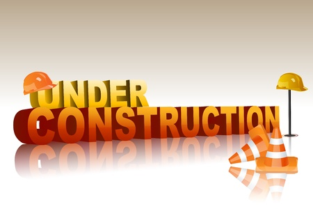 illustration of under construction Vector
