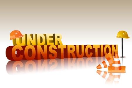 illustration of under construction Stock Vector - 8302792