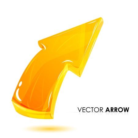 illustration of  arrow on white background Stock Vector - 8302860