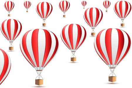 parachuting: illustration of parachute icons on white background