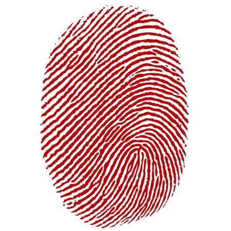 odcisk kciuka: Ilustracja kciuka wrażenie na białym tle Ilustracja