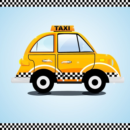 taxicab: illustration of taxi on the way