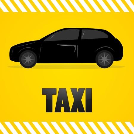 illustartion of taxi symbol Vector