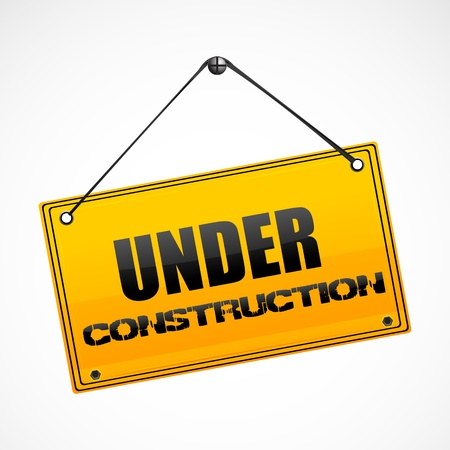 illustration of under construction board Stock Vector - 8302798