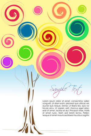 illustration of colorful tree Stock Vector - 8302683