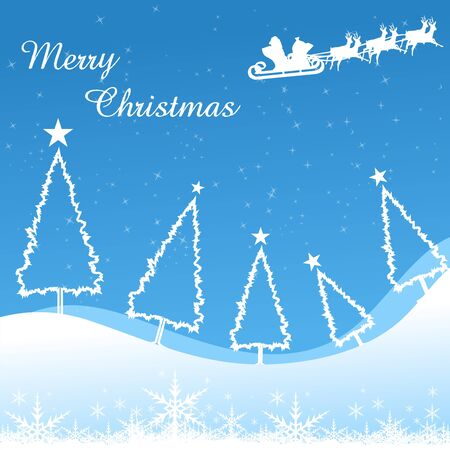 illustration of merry christmas card with xmas tree Vector