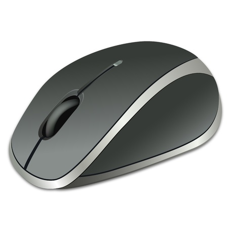computer art: illustration of computer mouse on white background