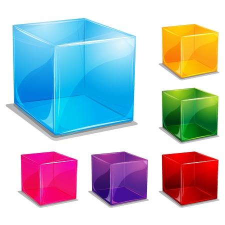 cubo: Ilustraci�n de fondo multicolor c�bico