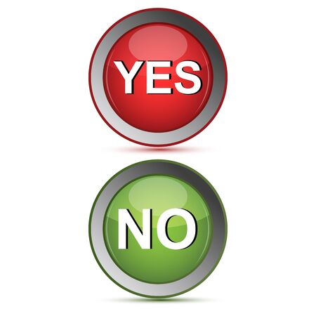 illustration of yes and no buttons Stock Vector - 8302660
