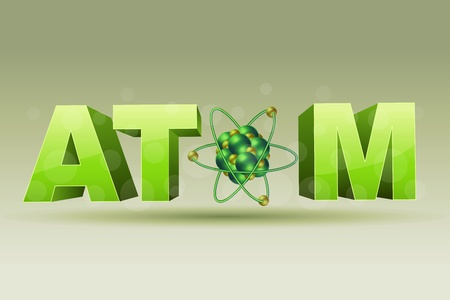 illustration of atom icon Vector