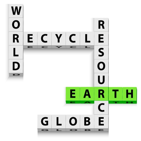 illustration of world recycle o white background Stock Vector - 8302619