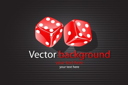 illustration of   background with dice Vector