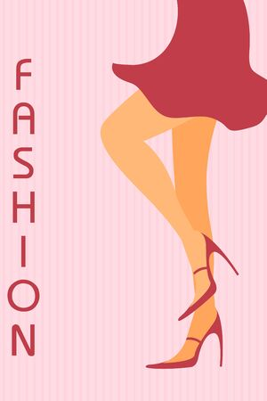 sexy legs: illustration of legs of fashionable lady Illustration