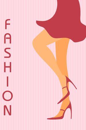 Ilustración de las piernas de moda dama
