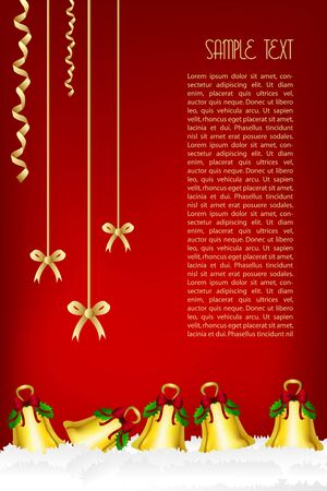 illustration of merry christmas card Vector