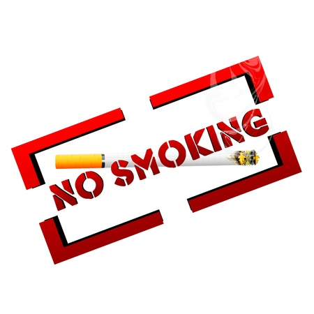 illustration of no smoking with cigarette with white background Stock Vector - 8302739