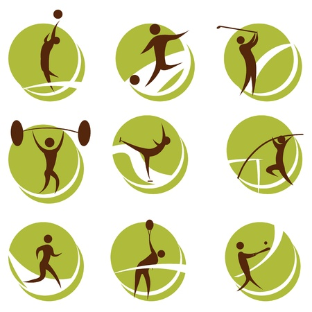 illustration of sports on white background Vector