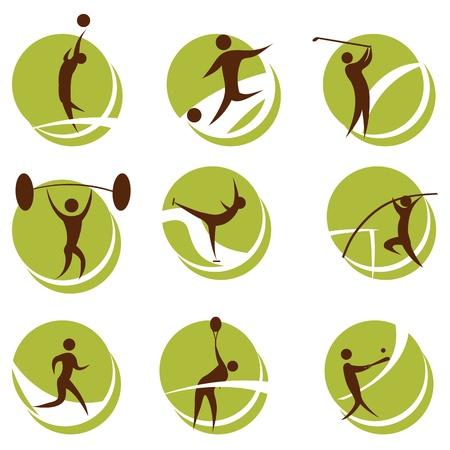 teen golf: Ilustraci�n de deportes sobre fondo blanco Vectores