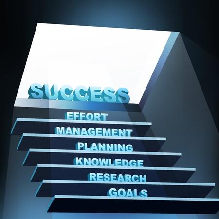 educativo: Ilustración de medidas de éxito